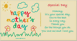 Attività Creative Per Bambini: Special Day poesia in inglese per ...