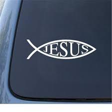Jesus Fish Car Window Vinyl Decal Sticker 5 5 Color White Truck Notebook Die Cut Sticker Stickers Aliexpress