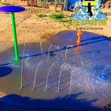 residential spray fountain backyard