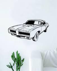 Classic Car Decal Sticker Bedroom Living Room Wall Vinyl Art Home Deco Boop Decals