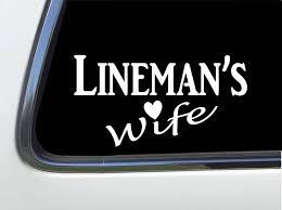 Amazon Com Thatlilcabin Lineman S Wife Sticker 8 Decal As682 Automotive