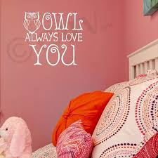 Amazon Com Owl Always Love You Vinyl Lettering Wall Decal Sticker 12 5 H X 13 5 W White Home Kitchen