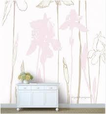 Flower Wall Mural Iris Wallpaper Nursery Mural Floral Etsy