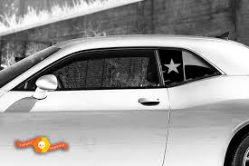 Product 2 Dodge Challenger Window Texas Flag Vinyl Windshield Decal Graphic Stickers