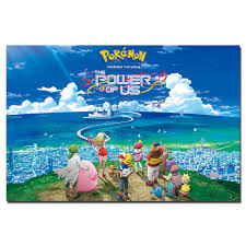 Pokemon the Movie The Power of Us Animation Poster Canvas Painting Unframed  Wall Art Pictures Print For Living Room Home Decor Painting & Calligraphy