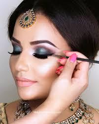 indian bridal eye makeup step by