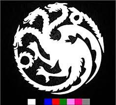 Amazon Com Game Of Thrones House Targaryen Sigil Vinyl Sticker Decal Hbo Logo Car Truck Mac 5 5 Inch Automotive