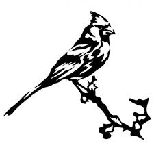 Cardinal Bird On A Branch Vinyl Decal Sticker Car Window Wall Bumper Cool Animal Wish