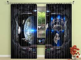 Space Cool Pattern Print Teen Boys Room Blackout Curtains Universe