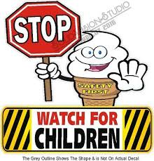 Furniture Signs Decor Caution Children Crossing Safety Vinyl Decal 14 Concession Ice Cream Food Truck Restaurant Food Service Business Industrial Furniture Signs Decor