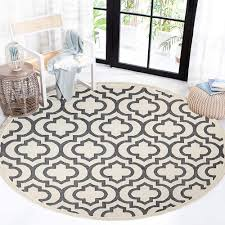 Hebe Cotton Round Area Rug 4x4 Ft Machine Washable Round Cotton Rug With Tassels Hand Woven Throw Rugs Carpet Floor Mat For Living Kids Room Bedroom