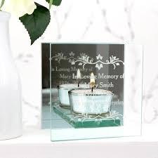 mirrored glass tea light holder