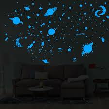 Follure Glow In The Dark Star Wall Stickers Round Stars Moon Dot Luminous Kid Room Decor Walmart Com Walmart Com