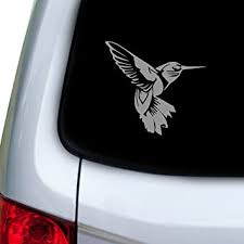 Amazon Com Stickany Car And Auto Decal Series Detailed Humming Bird Sticker For Windows Doors Hoods Silver Automotive