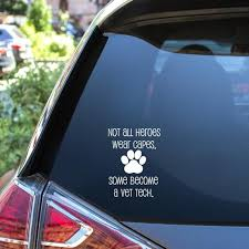 Vet Tech Gift Vinyl Decal For Lvt Car Bumper Sticker Etsy