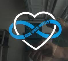 Blue Lives Matter Infinity Car Decal For Sale In Deland Fl 5miles Buy And Sell
