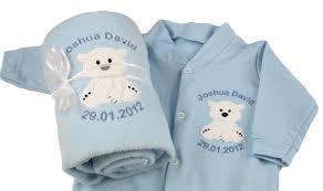 baby boy christening sleepsuit