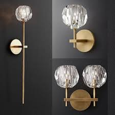 classic gorgeous crystal wall light