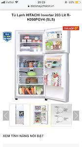Cho em lời tư vấn sắm tủ lạnh hitachi 203l bên chợ lớn