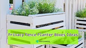 Beautiful Yet Functional Privacy Fence Planter Boxes Ideas Youtube