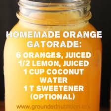 homemade orange gatorade grounded