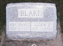 "Ada M. ""Aida"" Hayes Blake (1881-1939) - Find A Grave Memorial"
