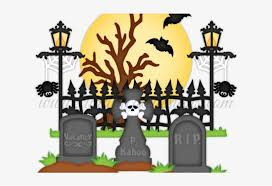 Graveyard Clipart Spooky Graveyard Cemetery Clipart Halloween Png Transparent Png 640x480 Free Download On Nicepng
