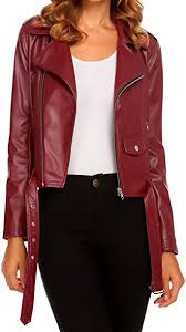 faux leather motorcycle biker