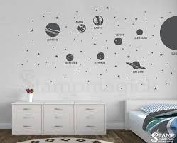 Solar System Wall Decal Planets Sticker For Nursery Or Home Wall Art Decal Features 8 Planets Vinyl Wall Decals Bedroom Wall Vinyl Decor Vinyl Wall Decals