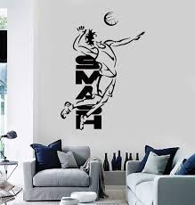 Vinyl Decal Wall Stickers Volleyball Smash Beach Sport For Living Room Wallstickers4you