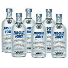 absolut vodka 40 vol 6 x 0 5 litre