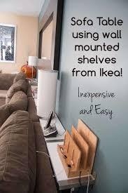 building a sofa table using ikea ekby
