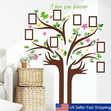 Family Tree Butterfly Wall Sticker Picture Photo Frame Removable Room Decal Us In 2020 Family Tree Wall Sticker Family Tree Wall Decor Tree Wall Stickers