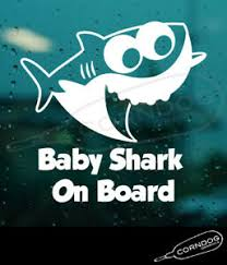 Baby Shark On Board Sticker Vinyl Decal Song Daddy Mommy Pink Do Do Fong Ebay