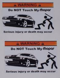 Warning Do Not Screw With My Mopar Decals Sea Doo Wave Etsy