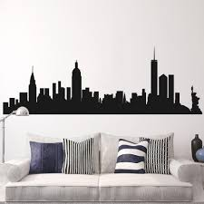New York Skyline Decal Ny Cityscape Wall Decal New York Silhouette Wall Mural