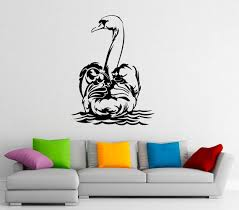 Home Decor 10s01n Swan Wall Decal Vinyl Stickers Waterbird Flying Animal Home Interior Design Art Murals Bedroom Bathroom Decor Wall Decor Home Living