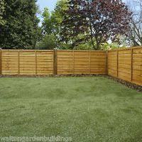 Wooden Garden Fence Panels Overlap Waney Edge Budget Fencing 6ft 5ft 4ft 3ft Garden Fence Panels Fence Landscaping Backyard Fences
