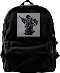 Amazon.com: MIJUGGH Canvas Backpack G I Joe Ninjago Cole Rucksack ...