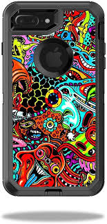 Amazon Com Mightyskins Protective Vinyl Skin Decal Compatible With Otterbox Defender Iphone 7 Plus Case Wrap Cover Sticker Skins Acid Trippy
