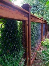 The Coated Wire And Black Bolts For This Paneled Chain Link Are Both Functional And Decorative Chainlink Backyard Fences Fence Design Privacy Fence Designs