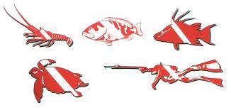 Ocean Designs Dive Flag Double Vinyl Sticker