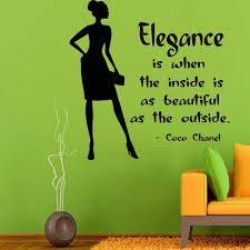 Shop Elegance Coco Chanel Quote Sticker Vinyl Wall Art Overstock 10105097