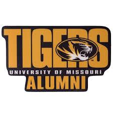 The Mizzou Store Mizzou Tigers Alumni Black Gold Sticker
