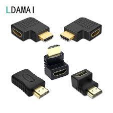 Đầu Nối Cáp HDMI Adapter 270 180 90 Độ Góc HDMI Nam Đến HDMI Nữ Bộ Chuyển  Đổi Cho Laptop Tivi PS4 bộ Mở Rộng Khớp Nối|