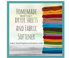 homemade dryer sheets fabric softener