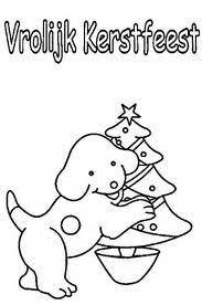 Dribbel Kleurplaat Kerstmis Vrolijk Kerstfeest Kleurplaten