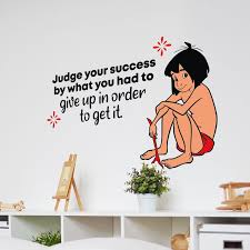 Design With Vinyl Get It Jungle Book Mowgli Quote Cartoon Quotes Wall Sticker Art Design Decal For Girls Boys Kids Room Home Decor Stickers Wall Art Vinyl 20x40 Inch Wayfair