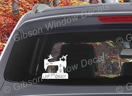 Amazon Com Live To Quilt Decal Car Truck Quilting Sewing Vinyl Window Decal Sticker Handmade