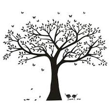 Anber Family Tree Wall Decal Butterflies And Birds Wall Decal Vinyl Wall Art